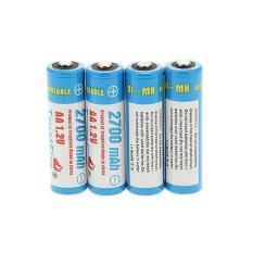 TrustFire Baterai AA Ni-Mh 2700mAh 1.2V 4PCS - Blue