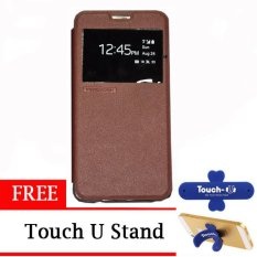 TUNEDESIGN FolioAir Leathercase Samsung Galaxy Alpha   Brown/Coklat Book Cover Book Case Flip Cover Flip Case Casing Hp Casing Handphone
