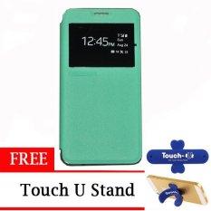 TUNEDESIGN FolioAir Leathercase Samsung Galaxy Alpha  Green/Hijau Book Cover Book Case Flip Cover Flip Case Casing Hp Casing Handphone