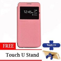 TUNEDESIGN FolioAir Leather  Case for Samsung Galaxy Alpha - Pink