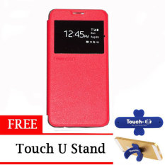 TUNEDESIGN FolioAir Leather  Case for Samsung Galaxy Core 2 - Merah