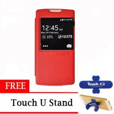 TUNEDESIGN FolioAir Leather  Case for Oppo Yoyo - Merah