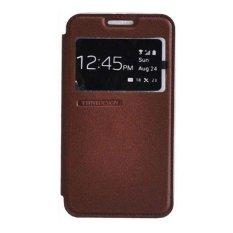 Tunedesign FolioAir Case for Samsung Galaxy E5 Casing Cover Flip - Cokelat