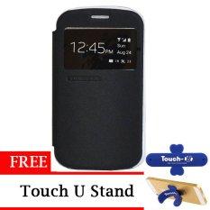 TUNEDESIGN FolioAir Leathercase  Blackberry Q20 - Hitam/Black Book Cover Book Case Flip Cover Flip Case Casing Hp Casing Handphone