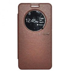 TUNEDESIGN FolioAir Leather Case  for HTC One M8 - Cokelat