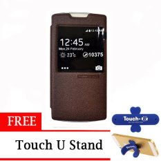 TUNEDESIGN FolioAir Leathercase  OPPO Find 5 Mini  Brown/Coklat Book Cover Book Case Flip Cover Flip Case Casing Hp Casing Handphone