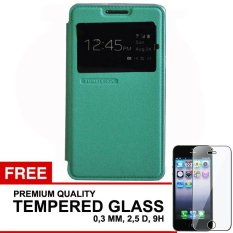 TUNEDESIGN FolioAir Leathercase  Samsung Galaxy A5  Green/Hijau Book Cover Book Case Flip Cover Flip Case Casing Hp Casing Handphone