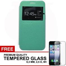 TUNEDESIGN FolioAir Leathercase  Samsung Galaxy J7  Green/Hijau Book Cover Book Case Flip Cover Flip Case Casing Hp Casing Handphone