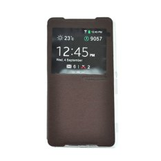 TUNEDESIGN FolioAir Leathercase Sony Xperia Z2  Brown/Coklat Book Cover Book Case Flip Cover Flip Case Casing Hp Casing Handphone
