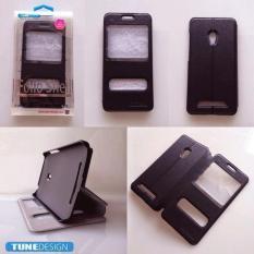 TUNEDESIGN FolioShell Leathercase Samsung Galaxy Ace 3 Black/Hitam Book cover Book Case Flip Case Flip Cover Casing Hp Casing Handphone