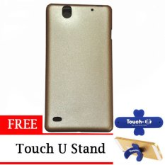 TUNEDESIGN LiteAir2 UltraThin Skin for Sony Xperia C4 - Gold +  Touch U Stand