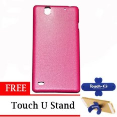 TUNEDESIGN LiteAir2 UltraThin Skin for Sony Xperia C4 - Pink +  Touch U Stand