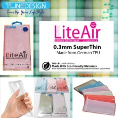 TUNEDESIGN LiteAir Ultrathin 0.3mm Sony Xperia X Compact - Clear/Transparan Bening TPU Jelly Silicone Softcase Backcase Backcover Case Hp Casing Handphone