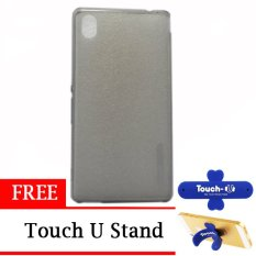 TUNEDESIGN LiteAir UltraThin for Sony Xperia M4 Aqua - Grey + Gratis Touch U Stand