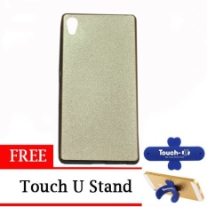 TUNEDESIGN LiteAir2 UltraThin Skin for Sony Xperia Z3 Plus - Gold +  Touch U Stand