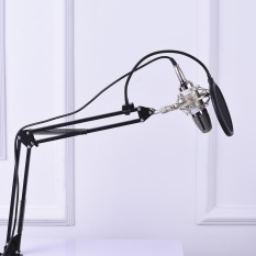 Harga Tv Audio Video Gaming Wearables Mikrofon Aksesoris Penyiaran Profesional Studio Recording Kondensor Mikrofon Mic Kit Dengan Shock Mount Adjustable Suspension Scissor Arm Stand Mounting Clamp Pop Filter Intl Origin