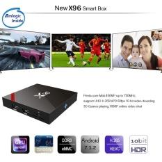 TV BOX S905W Quad Core Android 7.1.2 Wall Mount Anywhere Setiap Sudut Remote Control Smart Box X96 DDR3 1 GB EMMC 8 GB Mali-450MP 750 MHz Tidak Ada Bluetooth Spesifikasi: 2 + 16 Plug Standar: Peraturan Eropa-Intl