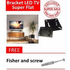 TV Bracket Metal 75 x 75 Pitch untuk 14-32 Inch Monitor - LED TV - smart TV Load kurang 8kg