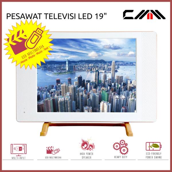 TV MONITOR LED 19 Inch - CMM - USB Movie - HDMI - VGA - AV - PUTIH