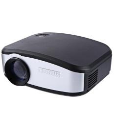 TV TV Cheerlux C6 LCD Proyektor 1200 Lumens 800X480 Piksel VGA/USB 2.0/HDMI/AV /Earphone Output Dukungan Antarmuka Hd1080P (Hitam Putih) -Intl