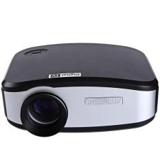 TV TV Cheerlux C6 LCD Proyektor 1200 Lumens 800X480 Piksel WithDigital TV VGA/USB 2.0/HDMI /AV/Earphone Output InterfaceSupport 1080 P (Hitam Putih) -Intl