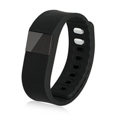 TW64 Smart Watch Kebugaran Aktivitas Tracker Smartband Gelang Bluetooth 4.0 Cerdas Gelang untuk IOS dan Android (Hitam) -Intl