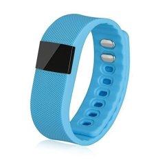 TW64 Smart Watch Kebugaran Aktivitas Tracker Smartband Gelang Bluetooth 4.0 Cerdas Gelang untuk IOS dan Android (Biru)-Intl