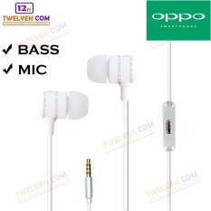 Twelven Handsfree AT-032 For Oppo - Powerfull Bass Tuning Earphone - Putih