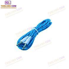 Twelven Kabel Aux To Aux / HP ke Speaker Kabel Tali Sepatu 1 Meter - Biru