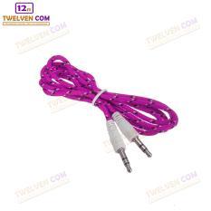 Twelven Kabel Aux To Aux / HP ke Speaker Kabel Tali Sepatu 1 Meter - Pink