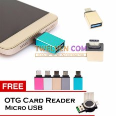 Twelven Metal USB-C Adapter Type-C to USB 3.0 Adapter + Free OTG Card Reader
