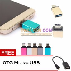 Twelven Metal USB-C Adapter Type-C to USB 3.0 Adapter + Free OTG Micro USB