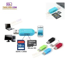 Twelven OTG Card Reader 2 in 1 for SDHC & Micro SD - Black