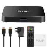 Miliki Segera Tx3 Pro Smart Android Tv Box Android 6 Amlogic S905X Quad Core 64Bit Kodi 16 1 Xbmc Uhd 4 K 1G 8G Mini Pc Wifi Lan H 265 Dlna Airplay Miracast Media Player Uk Plug Intl