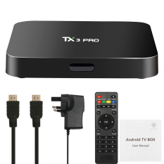 TX3 PRO Smart Android TV Box Android 6.0 Amlogic S905X Quad-core 64bit KODI 16.1 XBMC UHD 4 K 1g/8g Mini PC WIFI & LAN H.265 DLNA Airplay Miracast Media Player UK Plug-Intl