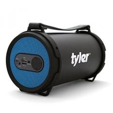 Tyler Speaker Portabel Bluetooth Nirkabel TWS403-BL, Indoor/Outdoor 2.1 Hi-Fi Stereo Pengeras Silinder, dengan Dual Driver Performa Tinggi, SD Kartu Input, Aux Line-In, FM Tuner, dan USB Port, Biru-Intl