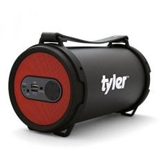 Tyler Speaker Portabel Bluetooth Nirkabel TWS403-RD, Indoor/Outdoor 2.1 Hi-Fi Stereo Pengeras Silinder, dengan Dual Driver Performa Tinggi, SD Kartu Input, Aux Line-In, FM Tuner, dan USB Port, Merah-Intl