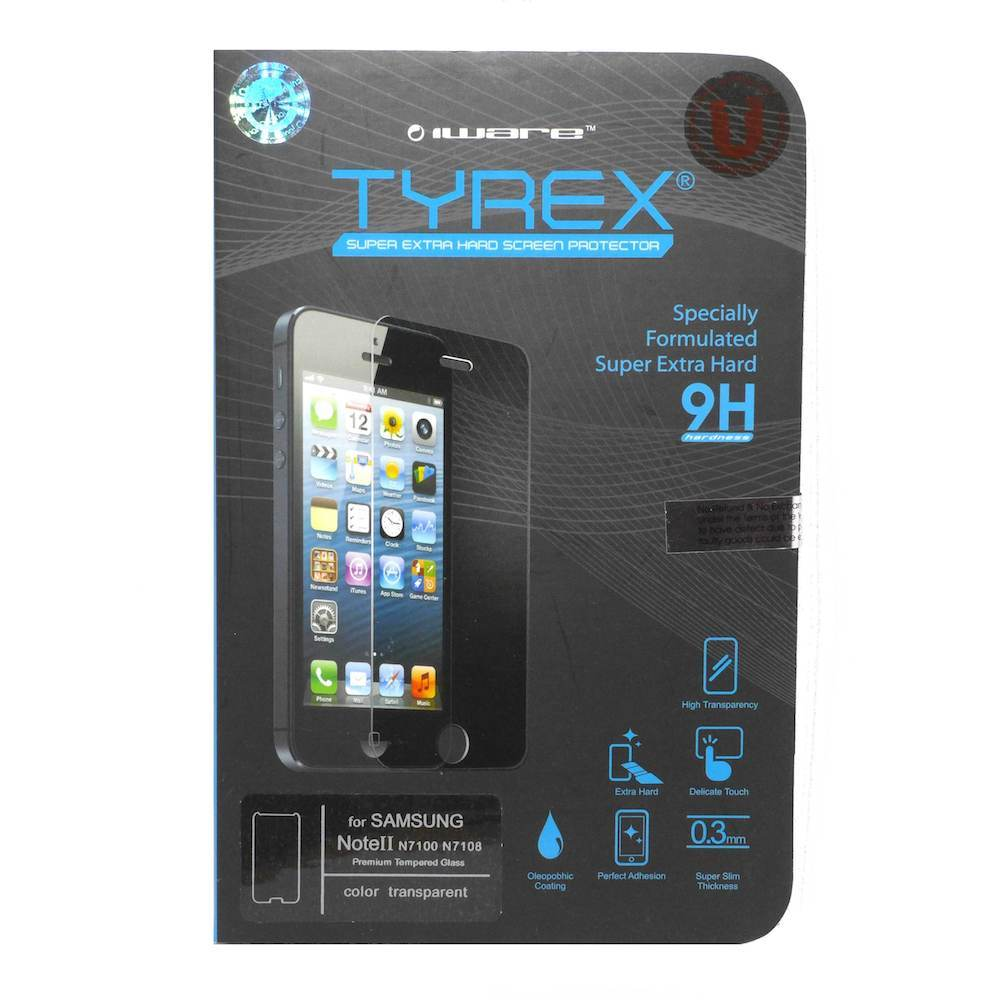 Promo Tyrex Garansi Samsung Galaxy Note Ii Tempered Glass Screen Protector
