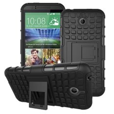 UEKNT Hybrid Dual Layer Tough Heavy Duty Perlindungan Shockproof Protective Kickstand Cover Case untuk HTC Desire 510 (Hitam) -Intl