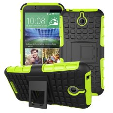 UEKNT Hybrid Dual Layer Tough Heavy Duty Perlindungan Shockproof Protective Kickstand Cover Case untuk HTC Desire 510 (Hijau) -Intl