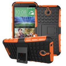 UEKNT Hybrid Dual Layer Tough Heavy Duty Protetion Shockproof Protective Kickstand Cover Case for HTC Desire 510 (Orange) - intl