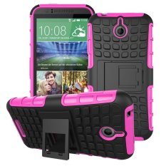 UEKNT Hybrid Dual Layer Tough Heavy Duty Perlindungan Shockproof Protective Kickstand Cover Case untuk HTC Desire 510 (Pink) -Intl