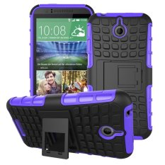 UEKNT Hybrid Dual Layer Tough Heavy Duty Perlindungan Shockproof Protective Kickstand Cover Case untuk HTC Desire 510 (Ungu) -Intl
