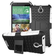 UEKNT Hybrid Dual Layer Tough Heavy Duty Perlindungan Shockproof Protective Kickstand Cover Case untuk HTC Desire 510 (Putih) -Intl