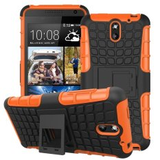 UEKNT Hybrid Dual Layer Tough Heavy Duty Perlindungan Shockproof Protective Kickstand Cover Case untuk HTC Desire 610 (Orange) -Intl