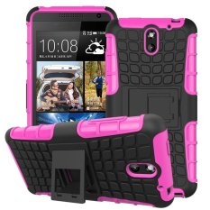 UEKNT Hybrid Dual Layer Tough Heavy Duty Perlindungan Shockproof Protective Kickstand Cover Case untuk HTC Desire 610 (Pink) -Intl