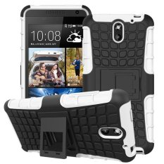 UEKNT Hybrid Dual Layer Tough Heavy Duty Perlindungan Shockproof Protective Kickstand Cover Case untuk HTC Desire 610 (Putih) -Intl