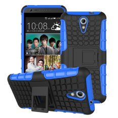 UEKNT Hybrid Dual Layer Tough Heavy Duty Perlindungan Shockproof Protective Kickstand Cover Case untuk HTC Desire 620/820 Mini (Biru) -Intl