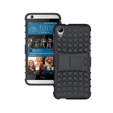 UEKNT Hybrid Dual Layer Tough Heavy Duty Perlindungan Shockproof Protective Kickstand Cover Case untuk HTC Desire 626 (Hitam) -Intl