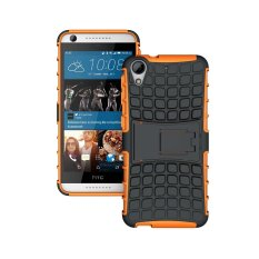 UEKNT Hybrid Dual Layer Tough Heavy Duty Perlindungan Shockproof Protective Kickstand Cover Case untuk HTC Desire 626 (Orange) -Intl